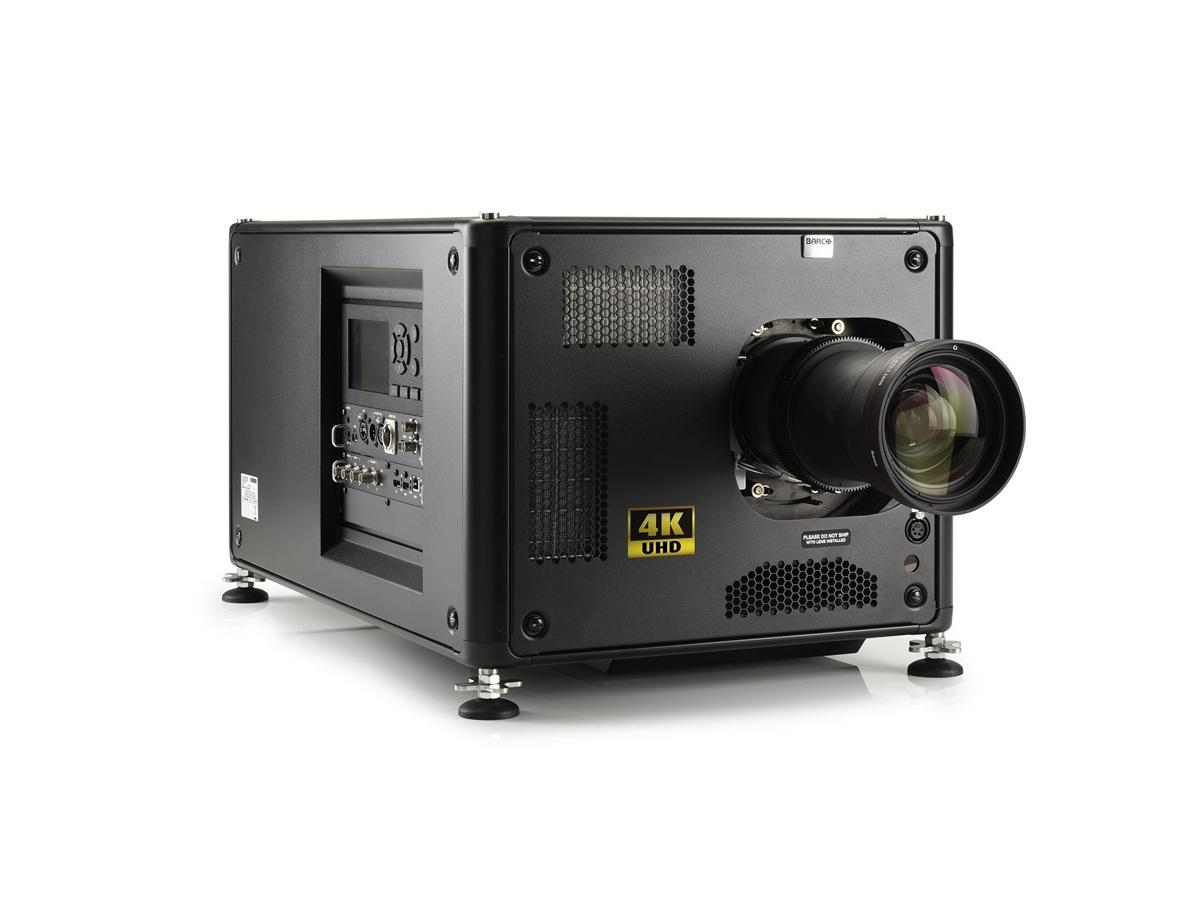 Barco R9014100BT HDX-4K12 11000 lumens 4K UHD 3-chip DLP projector with Lens and Stack Frame