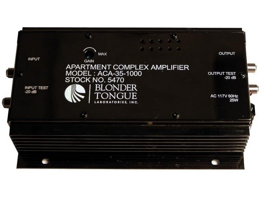 Blonder Tongue ACA-35-1000 Indoor Broadband Amp 35dB40-1000MHz PushPull Discrete