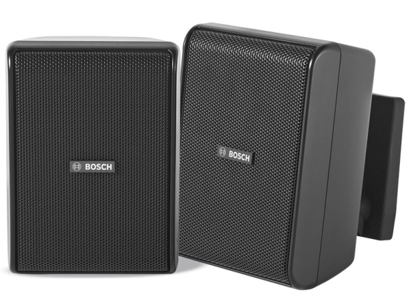 Bosch LB20-PC15-4D Quick Install Speaker 4 inch Cabinet 70/100V/Black/IP54 (Pair)