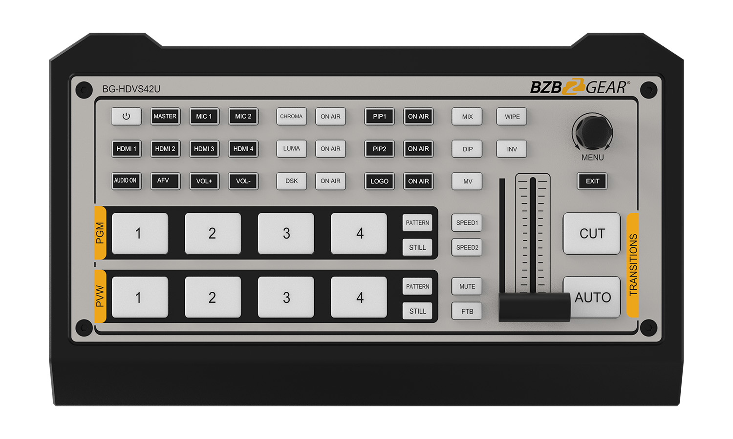 BZBGEAR BG-HDVS42U 4-Channel HDMI Live Streaming Video/Audio Mixer and Switcher