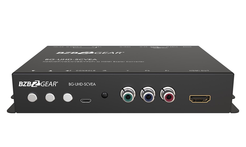 BZBGEAR BG-UHD-SCVEA Multi-format 4K UHD Scaler Converter HDMI/DP/VGA/CVBS/YPbPr to HDMI