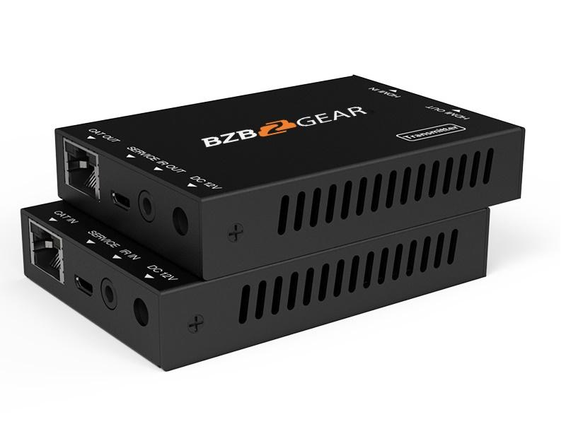 BZBGEAR BG-EXH-50POC 4K UHD 18Gps HDMI POC Extender (Transmitter/Receiver) Kit with IR over Single Cat5/6 up to 165ft