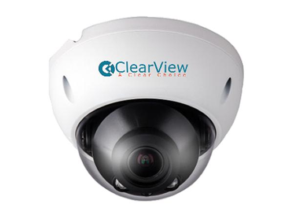 ClearView IPD-95Z 4MP Mid Size Dome Vandalproof Camera with 2.7-12mm Motorized Zoom/100ft Smart IR