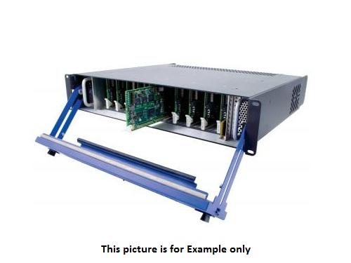 Cobalt Digital HPF-9000-NS 20-slot openGear High Power Frame - 2 Rack Unit with Fans and Metal Plates on Rear I/O