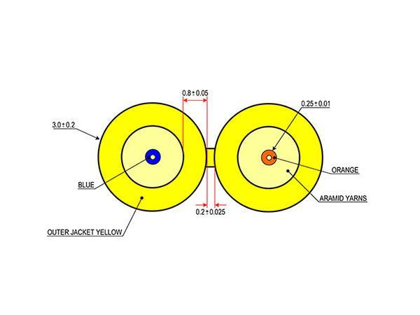 Covid CLR-D29125SMOSP-2KB Cleerline Fiber Duplex OS2 Plenum Cable - 2000ft Box
