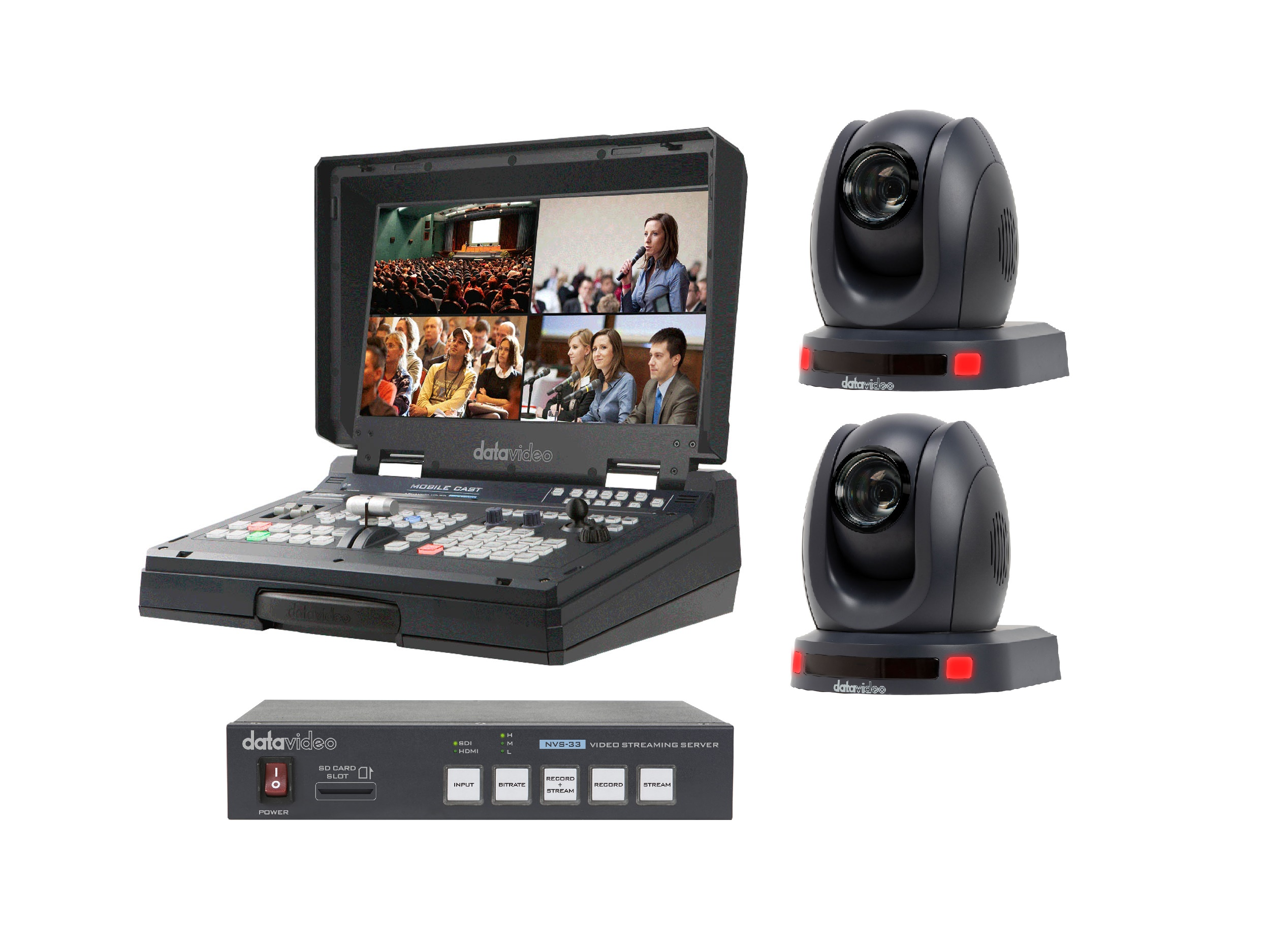 Datavideo HS-1500T-2C-S One Operator Production/Presentation Streaming Solutions Kit with 2x Cameras