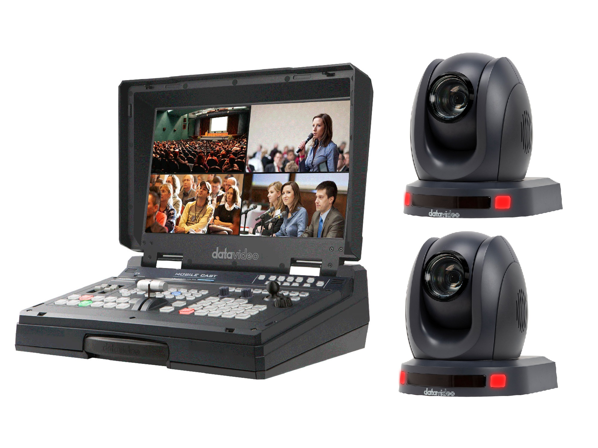 Datavideo HS-1500T2CAM One Operator Production/Presentation Solutions Kit with 2 Cameras