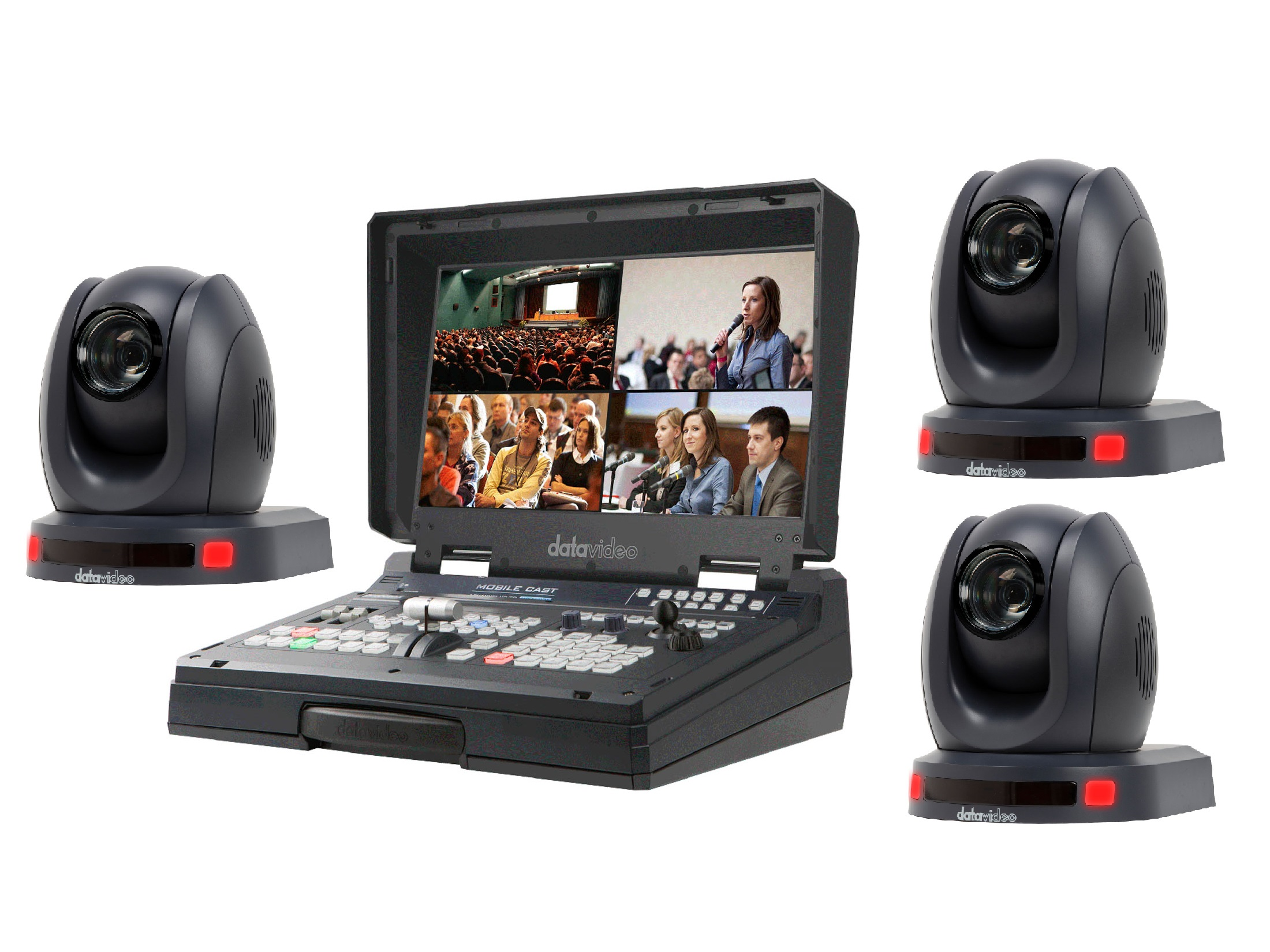 Datavideo HS-1500T3CAM One Operator Production/Presentation Solutions Kit with 3 Cameras