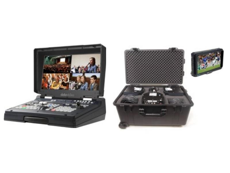 Datavideo HS-1600T-3C140TCM HD/SD HDBaseT Portable Video Streaming Studio Kit with Case