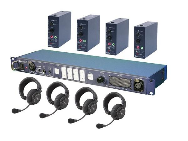 Datavideo ITC100HP1K ITC-100 Wired Intercom System with Four HP-1 Headsets Kit