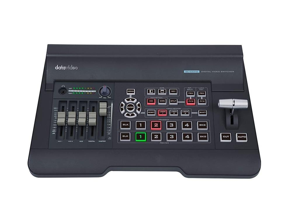 Datavideo SE-500HD 4-Channel HDMI 1080p video switcher with built-in audio mixer