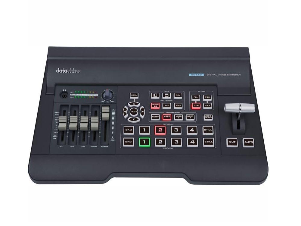 se 650 datavideo 4 input hdmi hd sdi digital video switcher with built in audio mixer. Black Bedroom Furniture Sets. Home Design Ideas