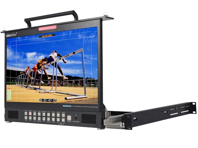 Datavideo TLM-170PM 17.3 inch HD/SD TFT LCD 1U Foldable Rackmount Monitor