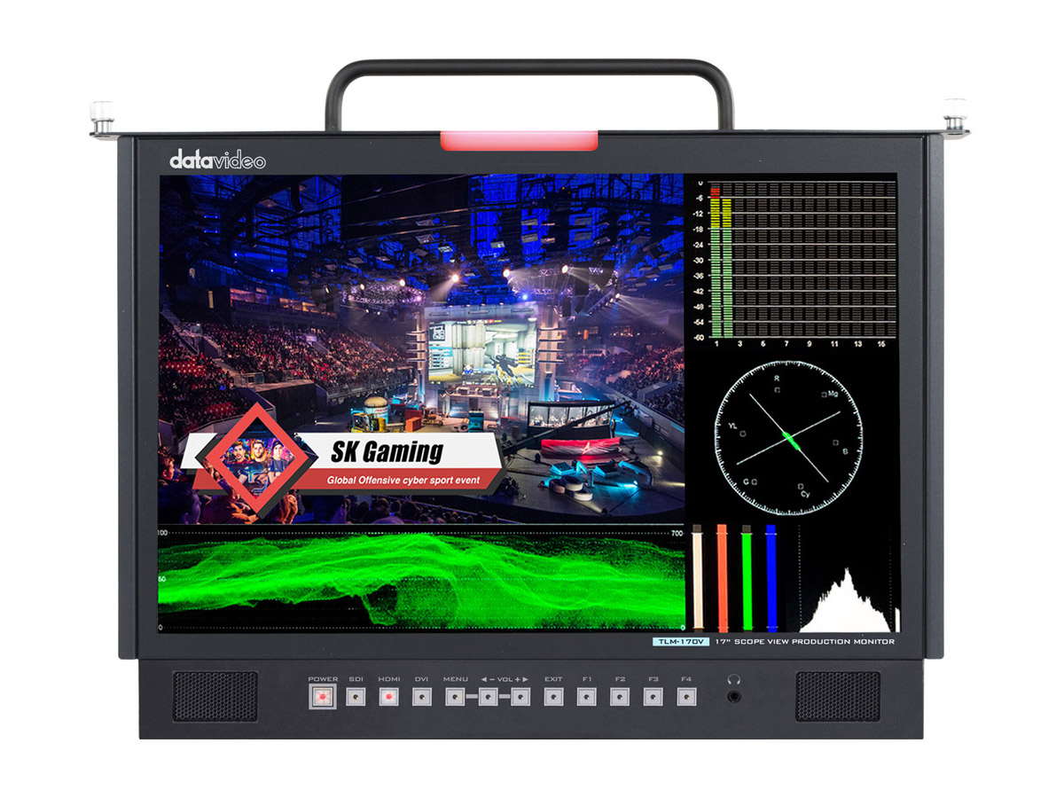 Datavideo TLM-170VM 17.3in ScopeView 3G-SDI/HDMI Full HD Pull-Out Monitor