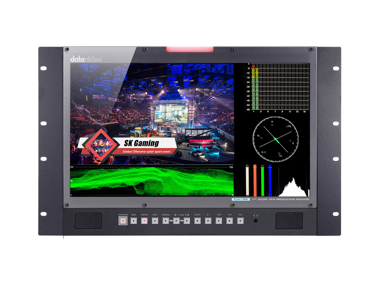 Datavideo TLM-170VR 17in 3G-SDI/HDM ScopeView Production Monitor-Rack Mount