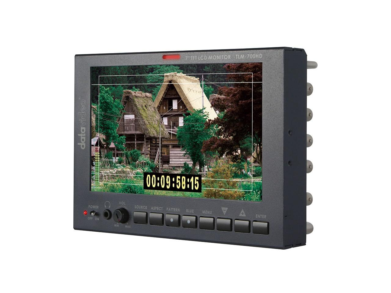 Datavideo TLM-700HD-P 7 inch HD/SD TFT LCD Monitor with Panasonic Battery Mount