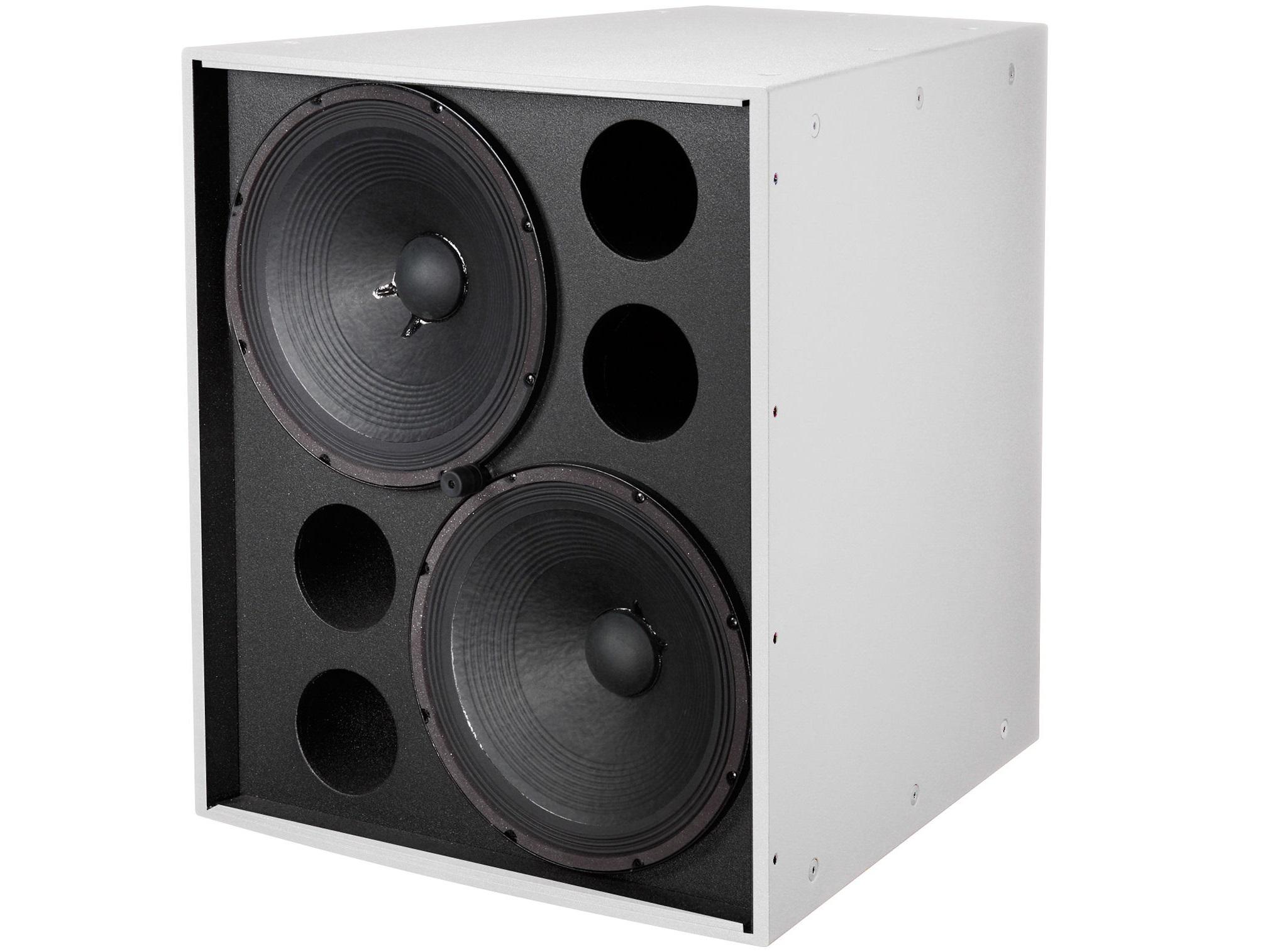 Electro-Voice EVF2151DPIW Dual 15 inch Front-Loaded Subwoofer/Evcoat/Pi-Weatherized/White