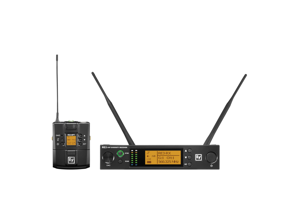 Electro-Voice RE3BPNID5H UHF Wireless Extender (Transmitter/Receiver) Set/560-596MHz