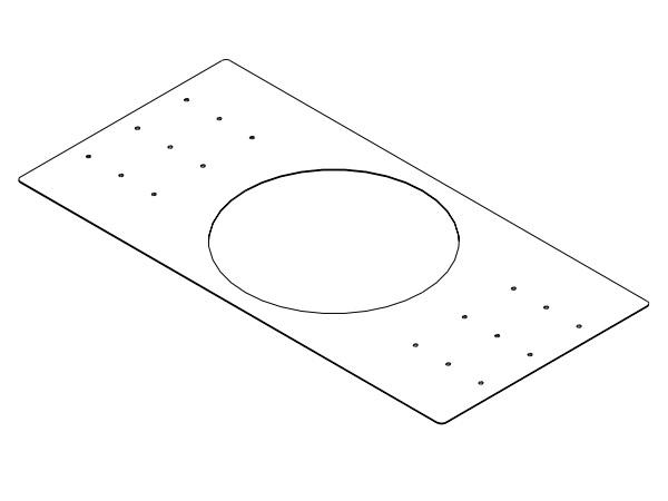 Electro-Voice RR42B Rough-In Mounting Plate for New Construction for Use with the EVID C4.2 (Package of 4)