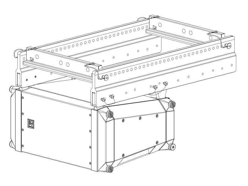 Electro-Voice X12TEGRID Extended Grid For X1/X2 Tops/Supports Up To 24 X1 or X2 Cabinets