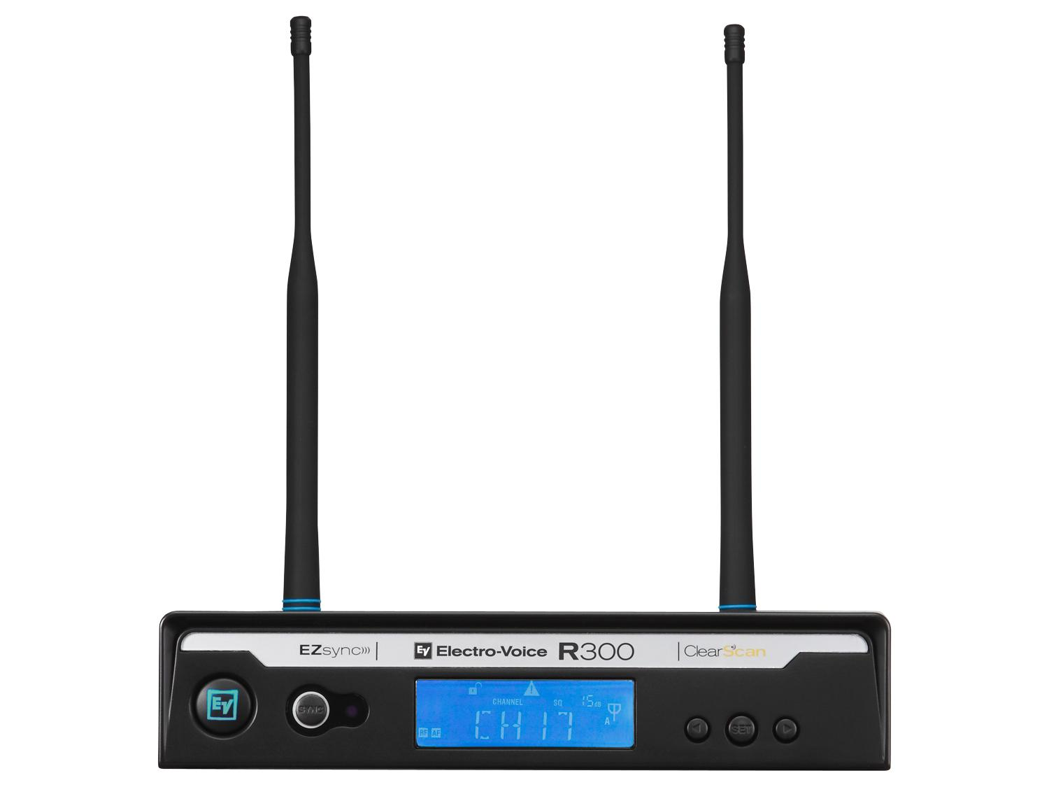 Electro-Voice R300RXC R300 Series Wireless Extender (Receiver) and Case Only C-Band/516-532 MHz