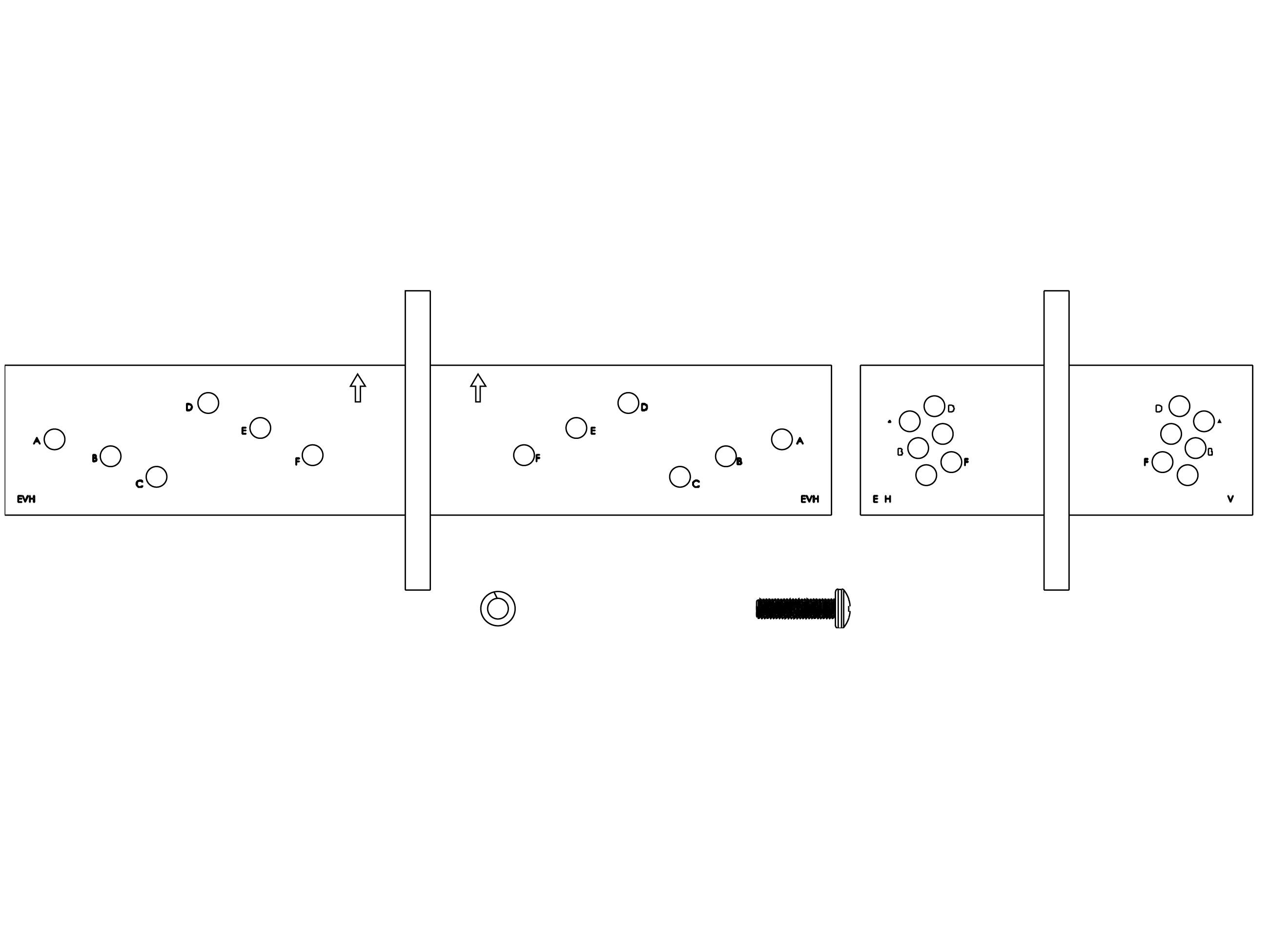 Electro-Voice HRK3W Horizontal Rigging Kit for EVH/White