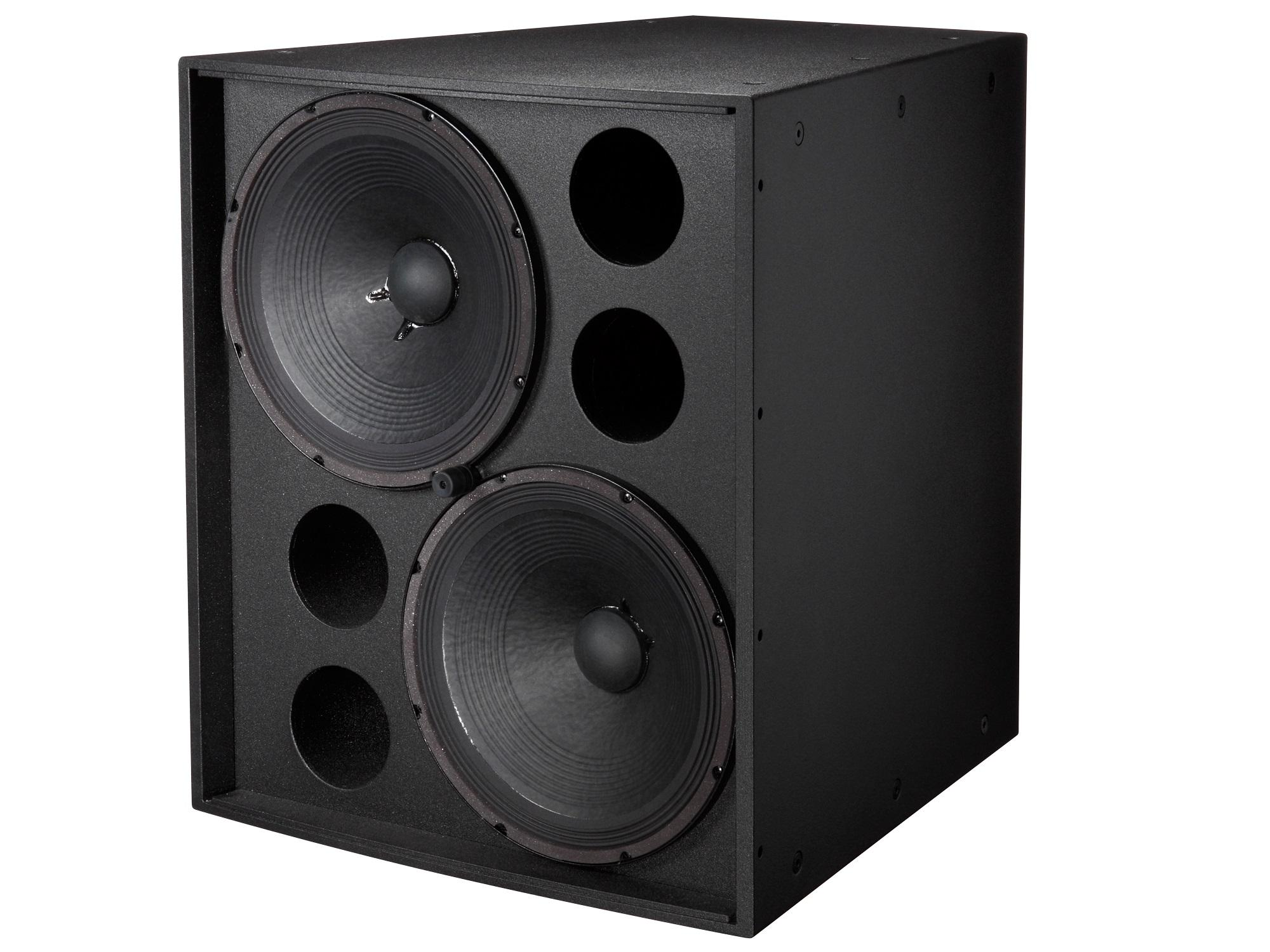 Electro-Voice EVF2151DFGB Dual 15 inch Front-Loaded Subwoofer/Fiberglass/Black