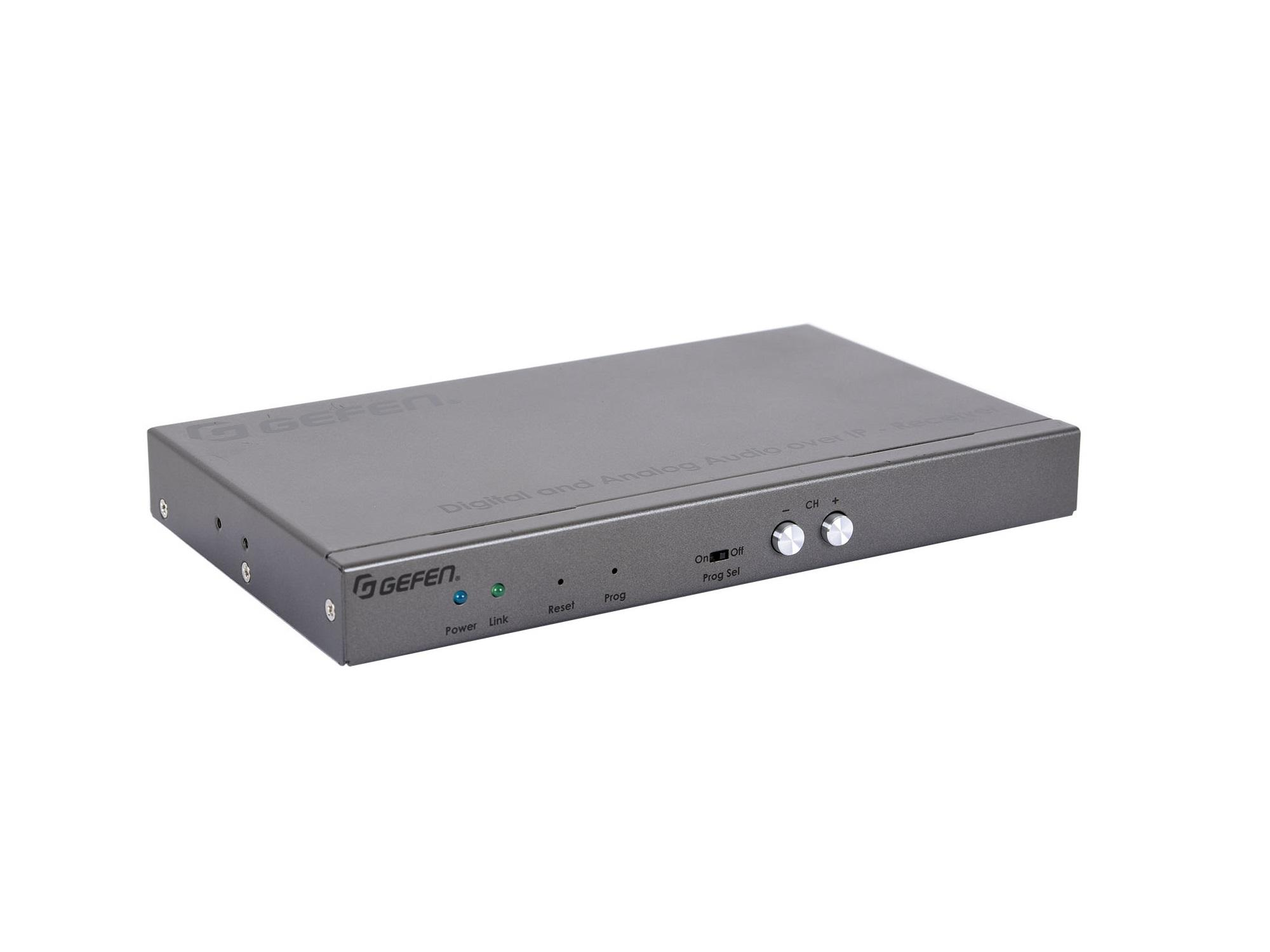 Gefen EXT-ADA-LAN-RX Digital and Analog Audio over IP Extender (Receiver) with RS-232/IR