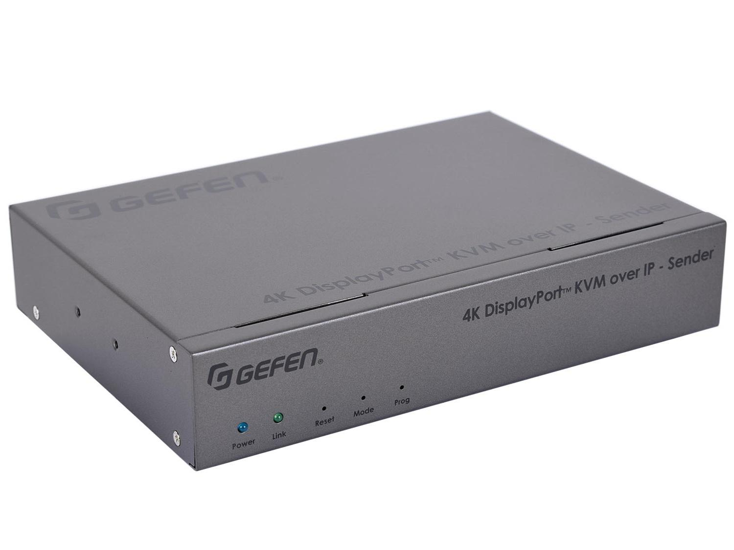 Gefen EXT-DPKA-LANS-TX 4K DisplayPort KVM over IP Extender (Transmitter) with USB/Audio/RS-232/IR