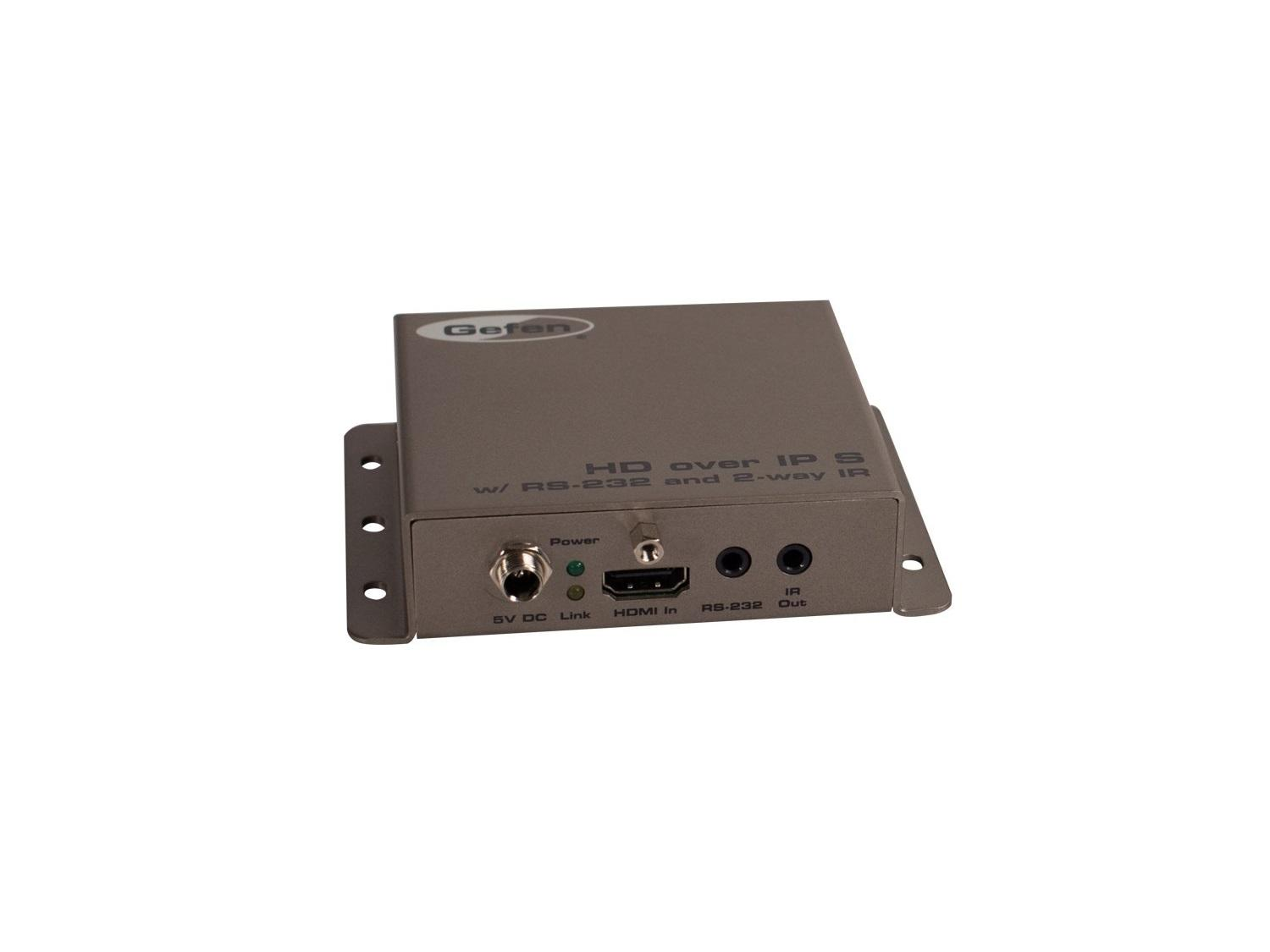 Gefen EXT-HD2IRS-LAN-TX HDMI over IP with RS-232 and Bi-Directional IR Sender