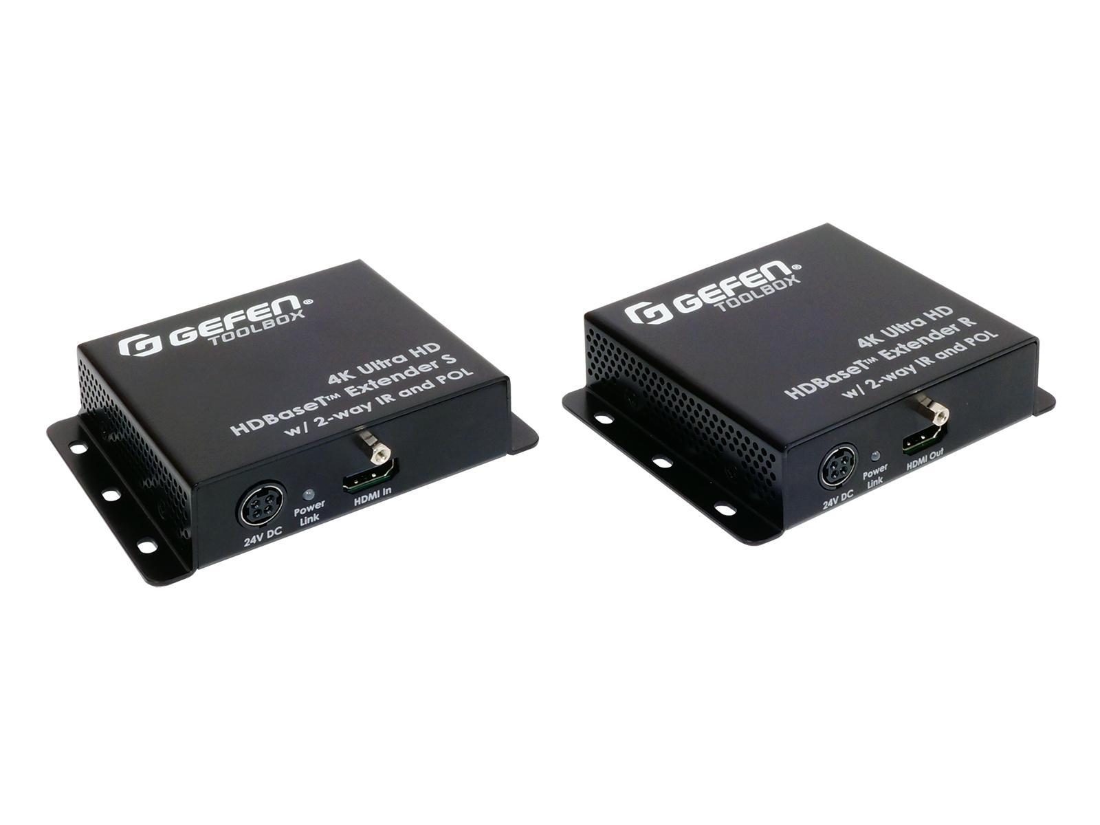 Gefen GTB-UHD-HBTL 4K Ultra HD HDMI/HDBaseT Extender (Transmitter/Receiver) Set/IR/POL