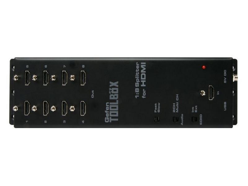 Gefen GTB-HDFST-148-BLK GefenToolBox 1:8 Splitter for HDMI with FST and 3DTV (Black)