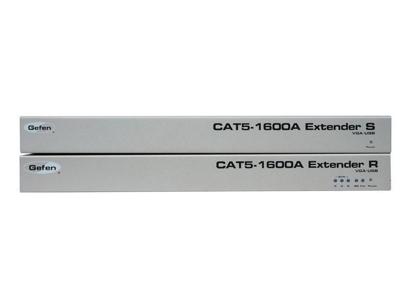 Gefen EXT-CAT5-1600A Extra Long KVM Extension for VGA, Audio, and USB over CAT-5