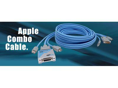 Gefen EXT-APPLECOMBO-DL-10 10ft Dual Link Apple Combo Extension Cables