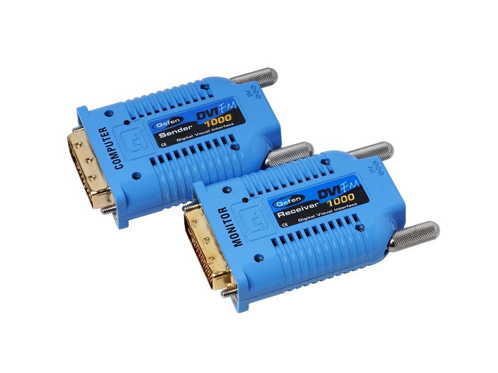 Gefen EXT-DVI-FM1000 Extender (Receiver/Sender) Kit DVI over One Strand of Fiber Cable