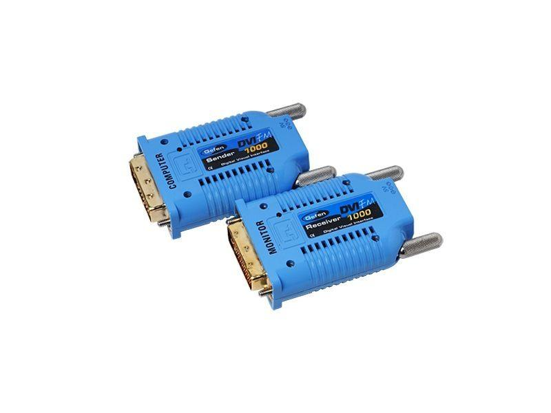 Gefen EXT-DVI-FM1000KIT150B DVI Extender over One Strand Fiber Link (150ft Kit)