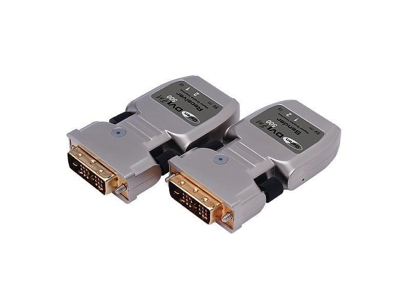 Gefen EXT-DVI-FM500-150B DVI Extender Over Two Strand Fiber Link   Edid (150ft Kit)