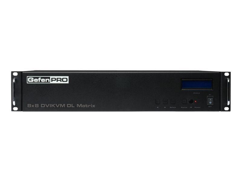 Gefen GEF-DVIKVM-848DL GefenPRO 8x8 DVI KVM Dual Link Matrix Switch