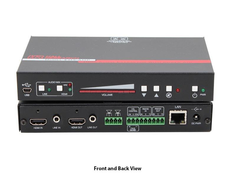 Hall Research EMX-AMP 4K HDMI Audio Extractor w Audio Amplifier/RS-232 Control
