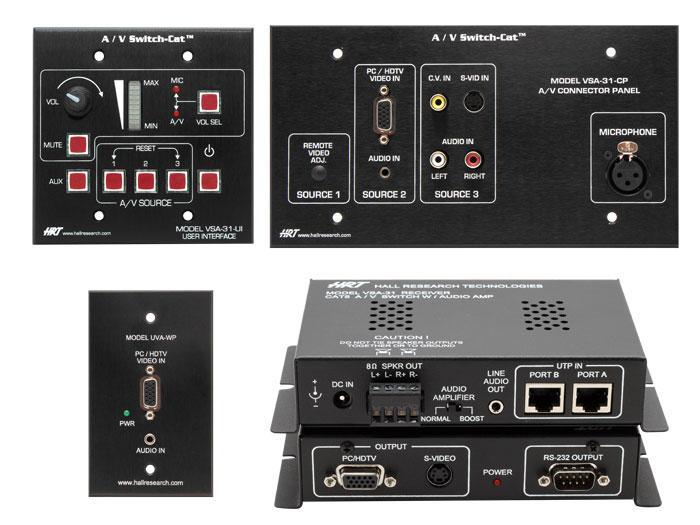 Hall Research VSA-32 VSA-32 A/V Switch-Cat (Split Version)