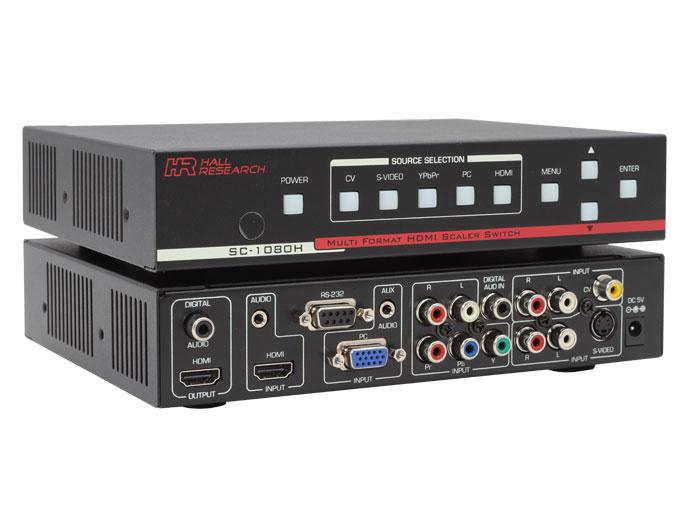 Hall Research SC-1080H Multi-Format/Multi-Input Video Scaler w HDMI/DVI output
