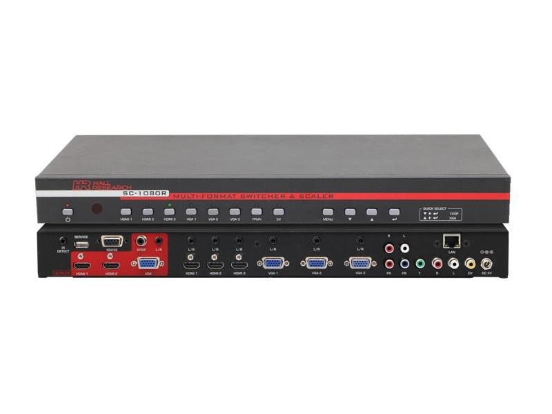 Hall Research SC-1080R 8x3 Multi-Format Switcher via Front Panel/IR/RS-232/IP