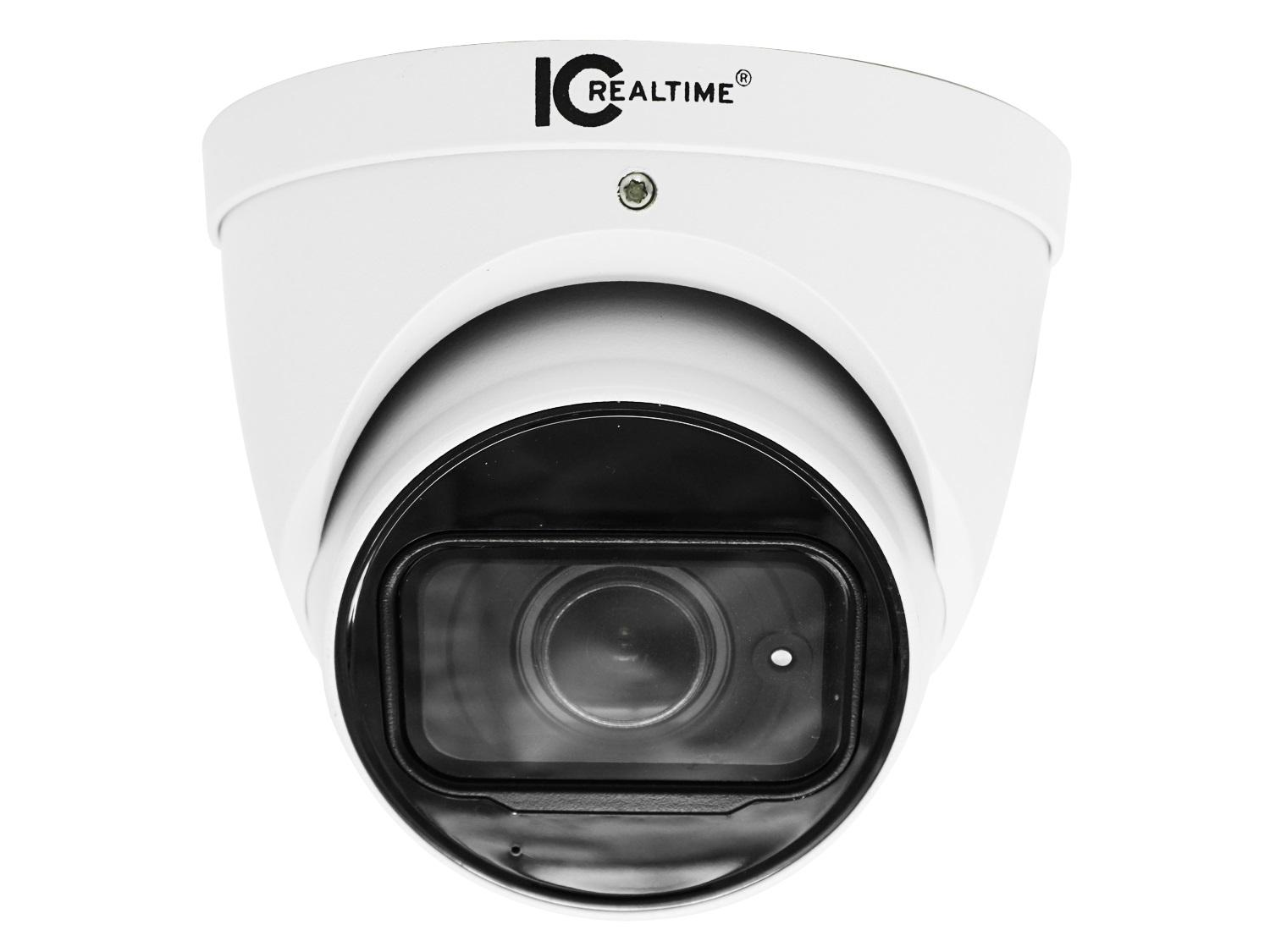 ICRealtime AVS-4KD8021-IR 8MP HD-AVS Indoor/Outdoor Mid Size Eyeball Dome Camera/2.8mm Lens/164ft Smart IR/Built-in Mic/12VDC