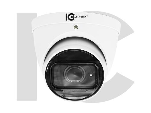 ICRealtime AVS-5MD4021-IR-M 5MP HDAVS Indoor/Outdoor Mid Size Eyeball Dome Camera/2.8mm Lens/164 Feet Smart IR/Built-in Mic