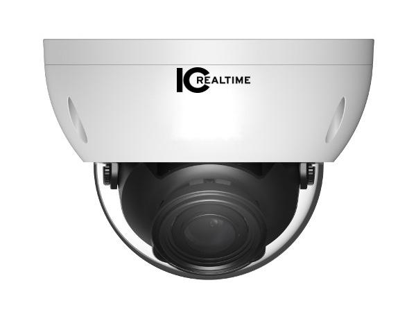 ICRealtime AVS-5MD5110-VIR-DP 5MP HDAVS Indoor/Outdoor Mid Size Vandal Dome Camera/2.7-12mm Lens/98 Feet Smart IR/12VDC/24VAC