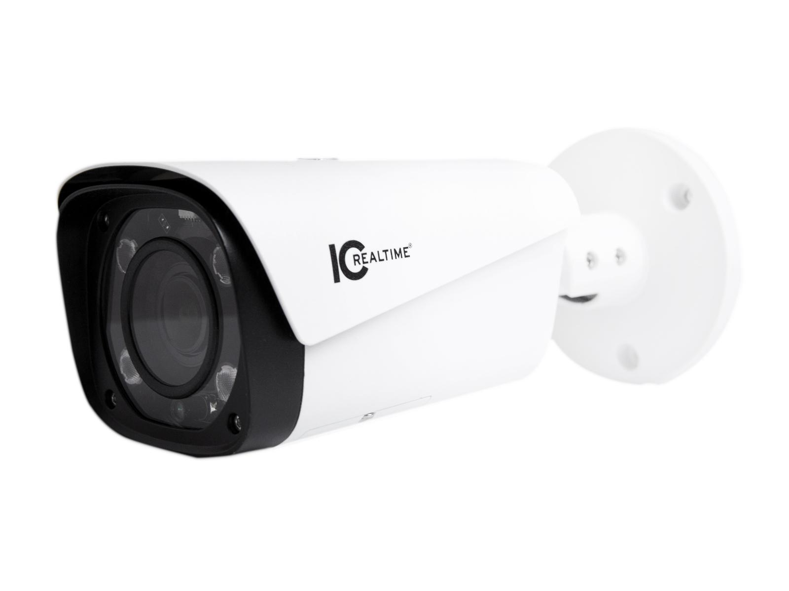 ICRealtime ICR-B2732Z 2MP IP Indoor/Outdoor Mid Size Bullet Camera/2.7-12mm Lens/180ft Smart IR/POE