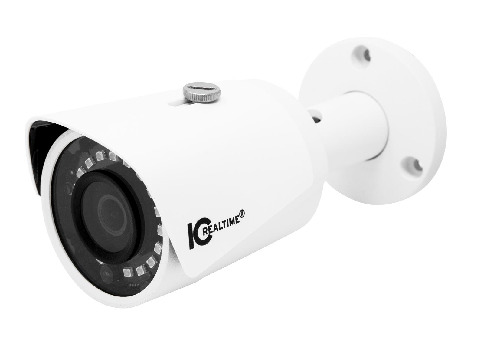 ICRealtime ICR-B4001-IR 4MP IP Indoor/Outdoor Small Size Bullet Camera with 2.8mm Lens/98ft Smart IR/POE