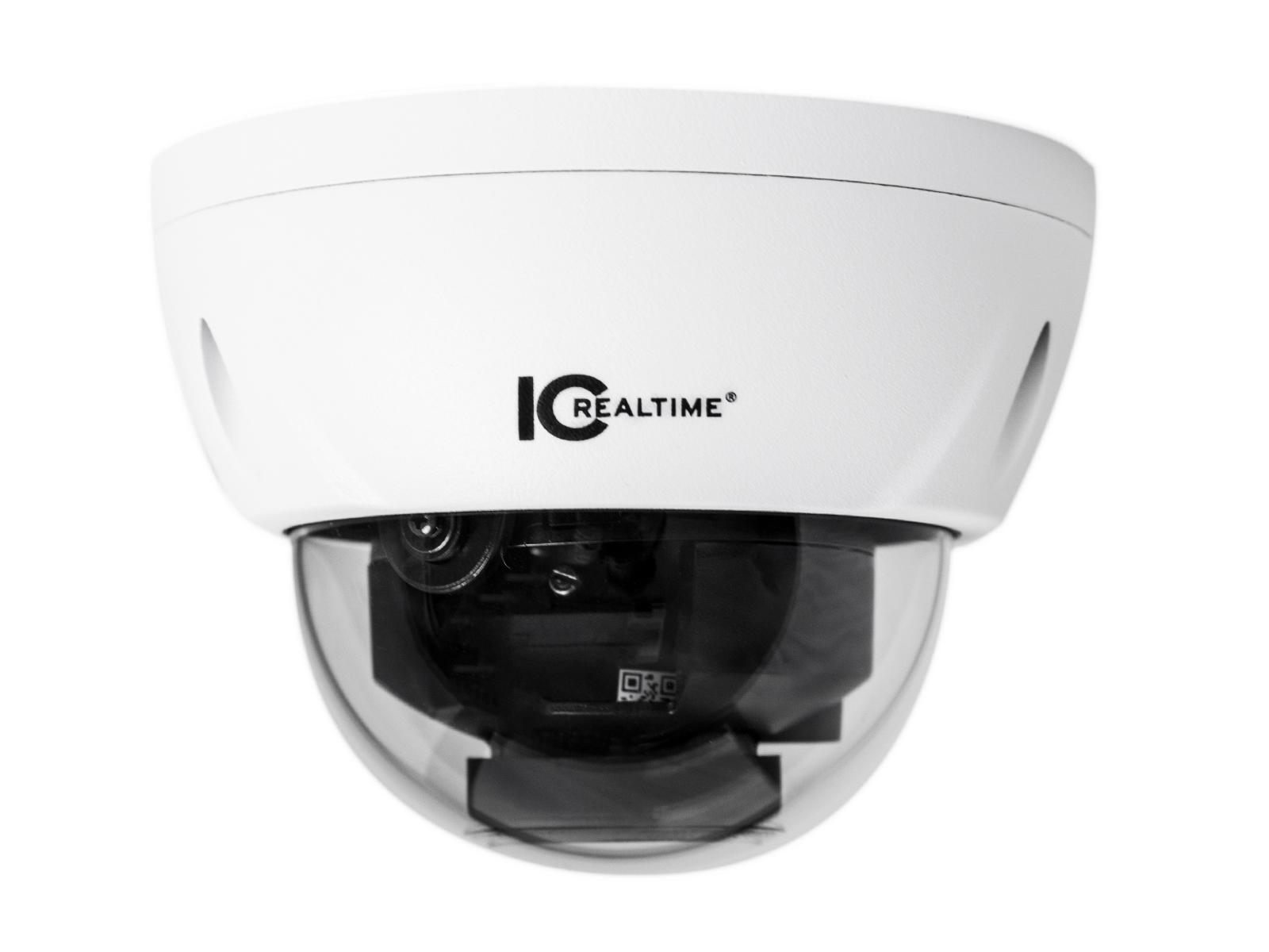 ICRealtime ICR-D2732Z 2MP IP Indoor/Outdoor Mid Size Vandal Dome Camera/2.7-12mm Lens/98ft IR/POE
