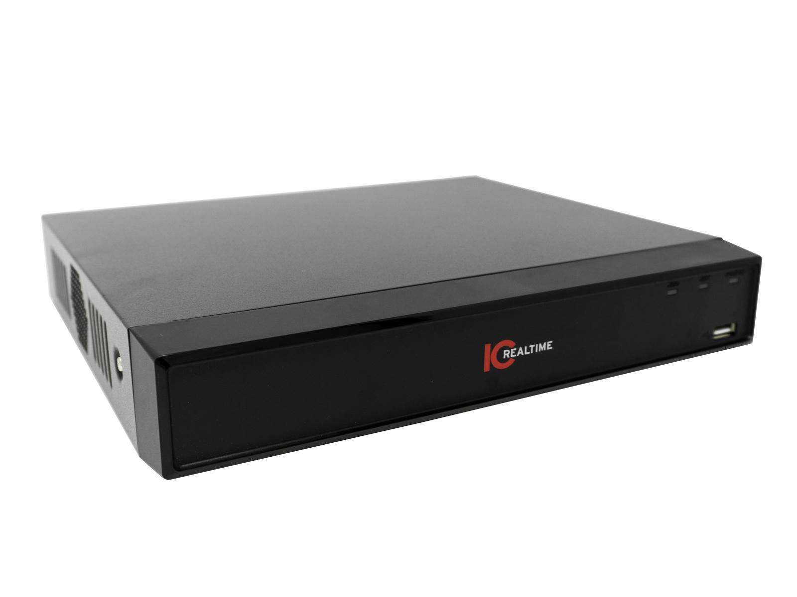 ICRealtime NVR-208NS 8 Channel 1U Shelfmount NVR/8 Port POE Switch/up to 6TB capacity