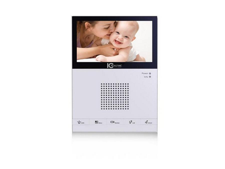 ICRealtime IH-D7210 7 TFT LCD Touch Screen/800x480/IP/Ethernet based Intercom
